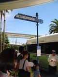 パークへのバス乗り場