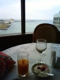 12階のレストランで朝食バイキング
