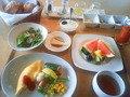 朝食の洋食セット