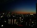 シティービューの部屋からの夜景