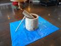 餅つき大会の杵と臼
