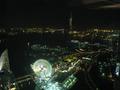 横浜ワールドポータズとコスモワールドの夜景