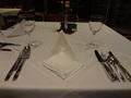 メインダイニングルームのテーブル
