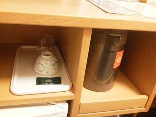 湯沸しポットとお茶セット!