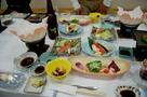毛蟹はもとより、カニしゃぶ、かに寿司、かに天ぷら、カニ茶碗蒸し、カニ鉄砲汁などオンパレード。