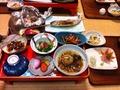 鶴の湯 夕食のお膳