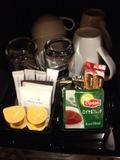 紅茶、緑茶、コーヒー