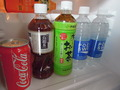 冷蔵庫中のジュース類