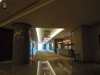 宴会場前の廊下
