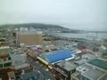 12階の部屋から函館朝市と函館山