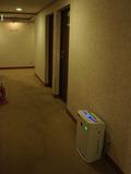 廊下にも空気清浄機が