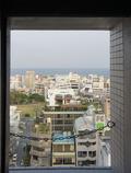最上階の小窓からの東シナ海