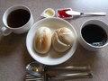 朝食の最後の〆にベーグル!