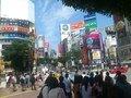 朝の渋谷駅前