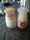 オーベルジュ土佐山の朝食の牛乳