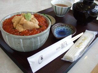 ホテル恵風での昼食