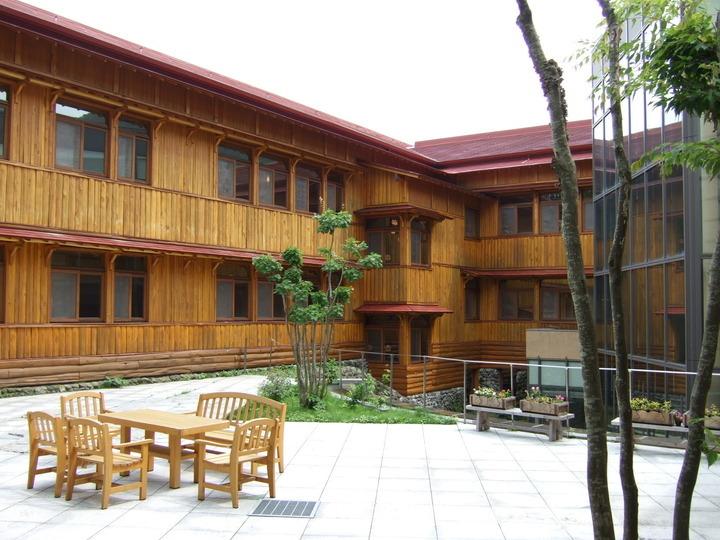 十和田ホテルの中庭