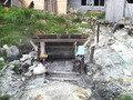 藤七温泉彩雲荘の露天風呂の源泉(名物黒ゆでたまごを作っているところ)