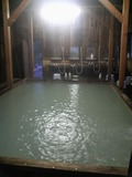 藤七温泉彩雲荘の内風呂の洗い場