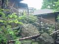 蔵王国際ホテルの露天岩風呂降口