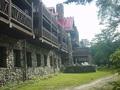上高地帝国ホテルの後ろ側の外観(ベランダ)