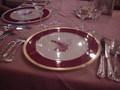 上高地帝国ホテルの夕食(食器)