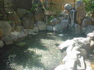 上高地温泉ホテルの露天風呂(焼の湯)