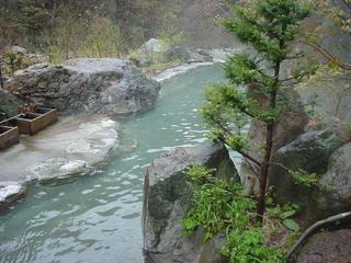 松川渓谷温泉滝の湯その1