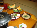ロイヤルホテル小林の夕食  デザート・鉄砲汁