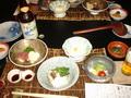 奥山田温泉満山荘の夕食