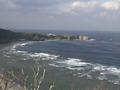 冬の残波岬の風景
