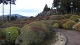 有名な山のホテルの庭園