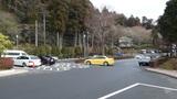 山のホテルの広い駐車場