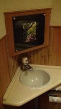 嵯峨沢館の部屋のトイレの手洗い