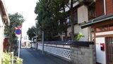 山喜旅館の道路側から見た全体像