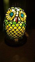 嵯峨沢館の廊下にあったフクロウの照明