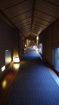 嵯峨沢館のムーディな感じの廊下