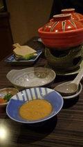 嵯峨沢館の夕食「焜炉」