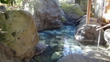 嵯峨沢館の貸切野天風呂「花酔の湯」の湯船