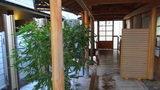 嵯峨沢館の「寝覚の湯」と「夢告の湯」の渡り廊下
