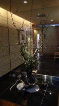 嵯峨沢館の「ダイニング楓」に飾ってあった生花
