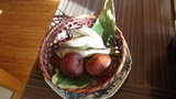 嵯峨沢館の朝食 さかなとしいたけ
