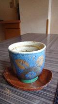 嵯峨沢館の朝食 綺麗な湯呑