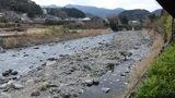 嵯峨沢館から見た「狩野川」