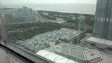 ホテルニューオータニ幕張の24F「ベイコートカフェ」からの眺望