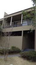 源泉と離れのお宿月の2階建タイプの客室ベランダ