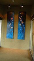 源泉と離れのお宿月のロビーに飾ってある美術品