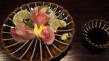 源泉と離れのお宿月の夕食のお刺身