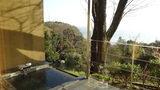 源泉と離れのお宿月の部屋の露天風呂から見た風景(オーシャンビュー)
