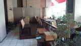 アリエッタホテル&トラットリアのエントランス前のカフェの席